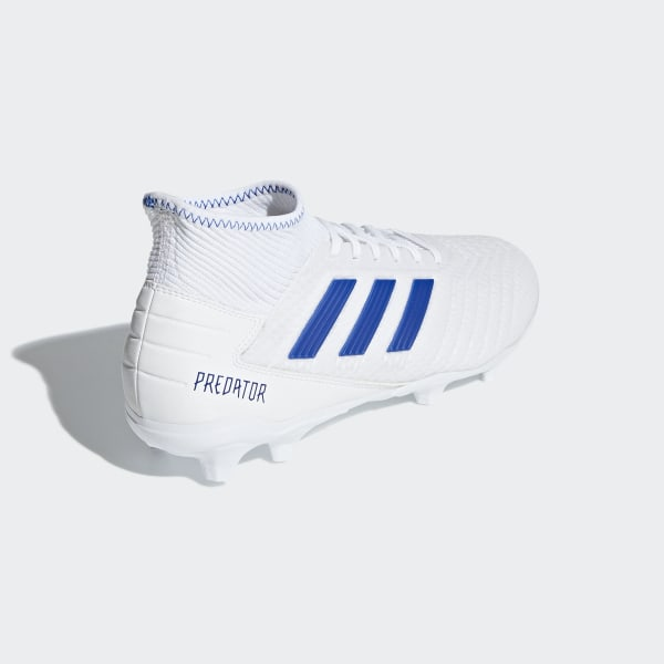 6194e2ccd22 Predator 19.3 Firm Ground Cleats Cloud White   Bold Blue   Bold Blue BB9333