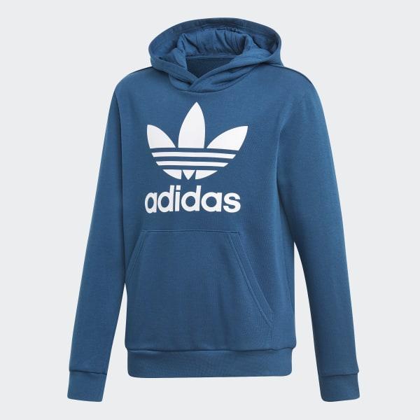 61434f488 adidas Bluza z kapturem Trefoil - niebieski | adidas Poland
