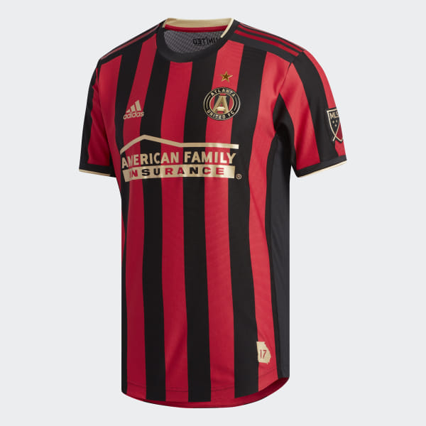 55719a8fc87 Atlanta United FC Authentic Home Jersey Black   Victory Red DP4873