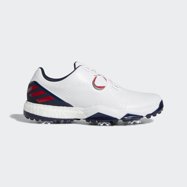 Golfschuh Test: adidas adipower BOOST: Schuhe zum Umtausch