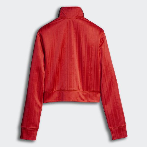 ae7a20d98838 adidas Originals by Alexander Wang Crop Track Jacket Core Red/Black DM9684