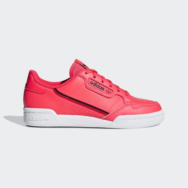 Details about Adidas Originals Continental 80 Womens Footwear Shoe Core Black Scarlet