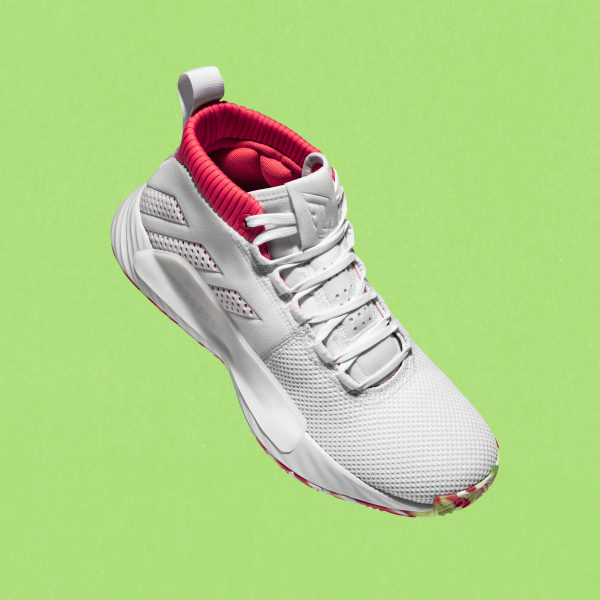 25130806878c Dame 5 Shoes Cloud White   Shock Red   Crystal White BB9312