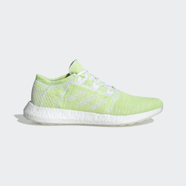 adidas pure boost white green