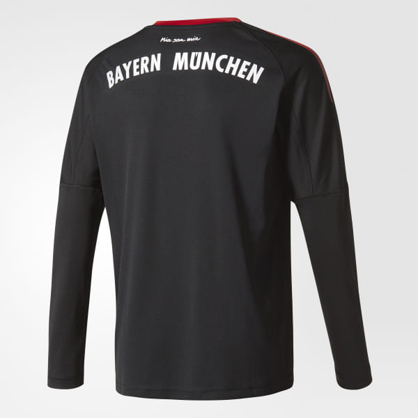 d1b893b8afe FC Bayern Munich Replica Goalkeeper Jersey Black / Fcb True Red / White  AZ7945