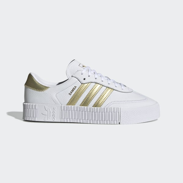 c4d38957568 adidas SAMBAROSE Shoes - White | adidas US