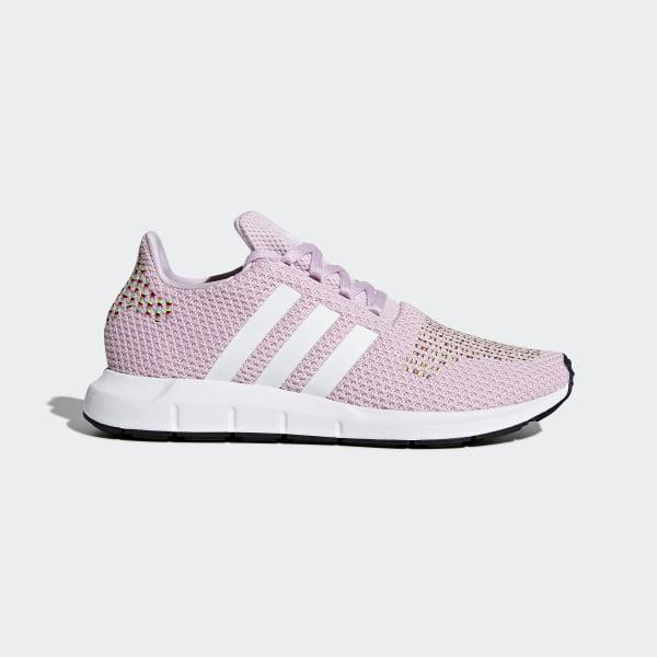 Damen Adidas Swift Run Rosa, Weiß & Multicolored Schuhe Rosa