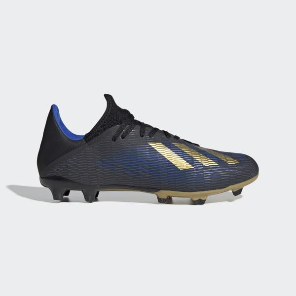 f654b25b Футбольные бутсы X 19.3 FG core black / gold met. / football blue F35380