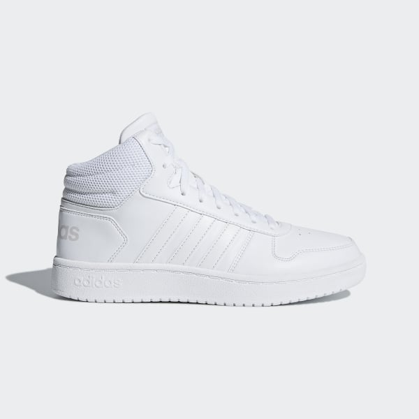 adidas Hoops 2.0 Mid Shoes White | adidas UK