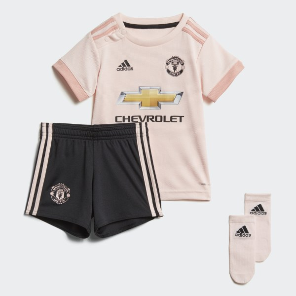 d56de4399 Manchester United Away Infant Kit Icey Pink   Trace Pink   Black CG0060