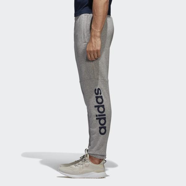 adidas Essentials Linear Logo Hose Grau | adidas Deutschland