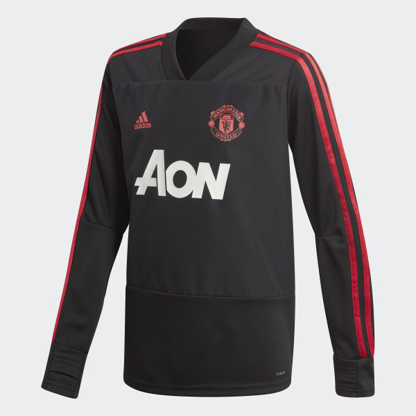 0469d94e92b Manchester United Training Top Black   Blaze Red   Core Pink CW7593