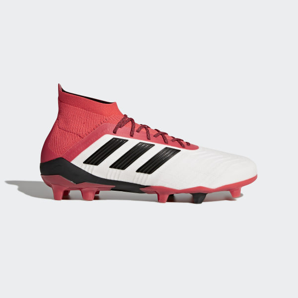 5274574ba Predator 18.1 Firm Ground Boots Ftwr White/Core Black/Real Coral CM7410