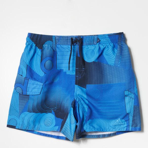 acdea42d7397 adidas Pantaloneta de Natación Lineage Niños - Azul | adidas Colombia
