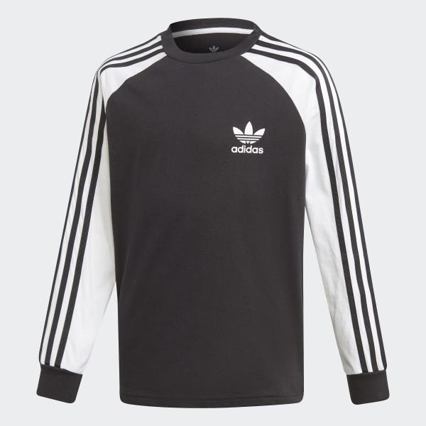 7ecdf42e adidas 3-Stripes Long-Sleeve Top - Black | adidas Ireland