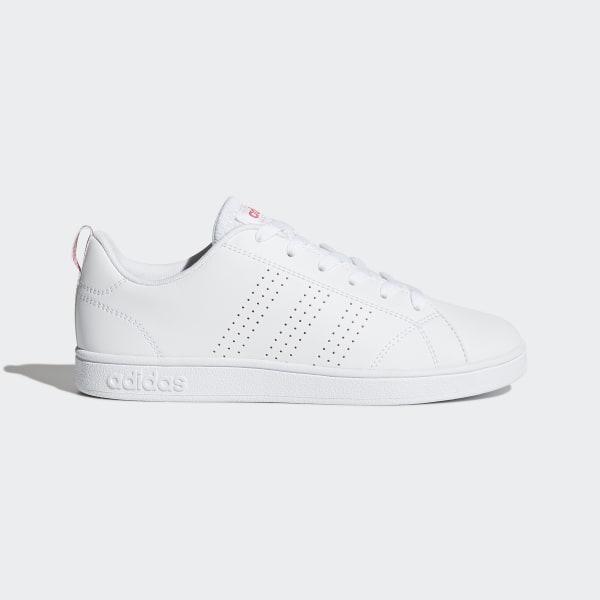 4b12add8f9e VS Advantage Clean Schoenen Ftwr White / Ftwr White / Super Pink BB9976