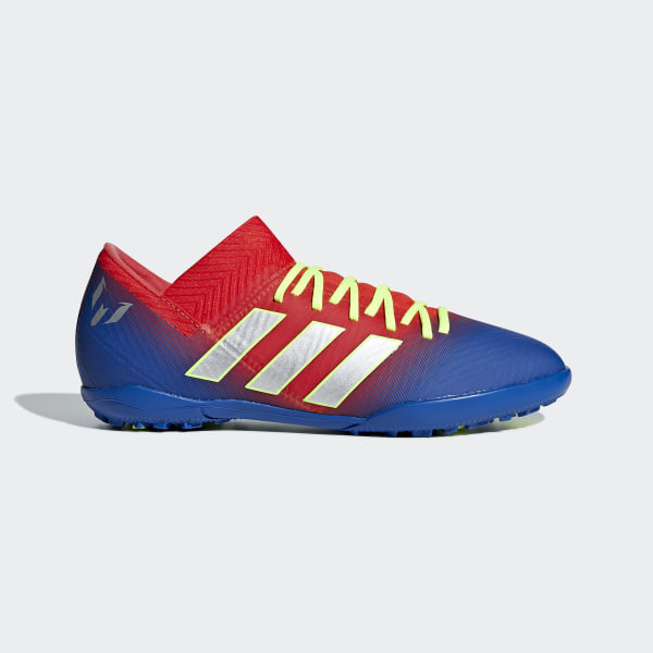 b980500d1e48 Nemeziz Messi Tango 18.3 Turf Shoes Active Red / Silver Metallic / Football  Blue CM8636