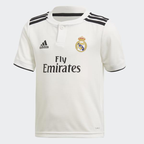 aad7dae28b3 Real Madrid Home Mini Kit Core White   Black CG0538