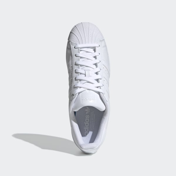 Adidas Womens Superstar White Leather Trainers 40 23 EU