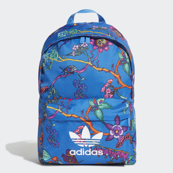 c4d172ffc26 adidas Poison Floral Backpack - Blue   adidas UK