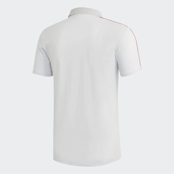 e6922f08896 Manchester United Polo Shirt Clear Grey   Blaze Red DP6828