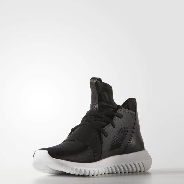 monochrome schwarzer adidas tubular sneakers