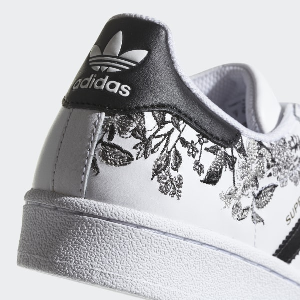 adidas superstar flower embroidery - femme chaussures