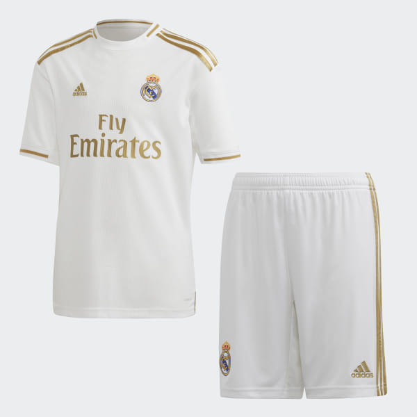 the best attitude 25c92 74b7d adidas Real Madrid Home Youth Kit - White | adidas UK