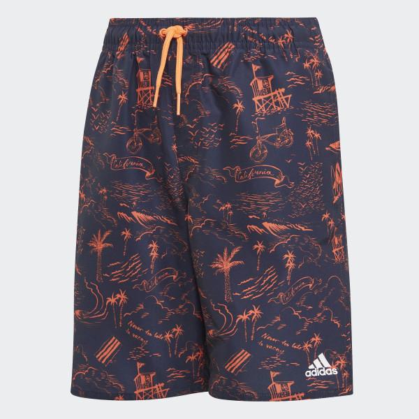 5c6625561d Graphic Swim Shorts Legend Ink / True Orange DQ3030
