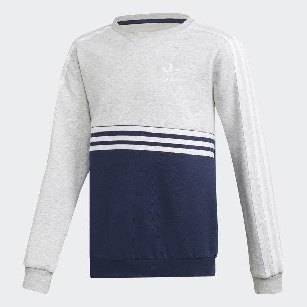 d836172cc7a2b Authentics Crew Sweatshirt Light Grey Heather   Collegiate Navy   White  DH4851
