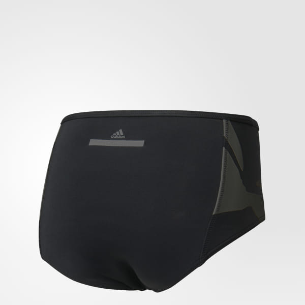 5c09acd6d2f Floral High Waist Bikini Bottoms Black / Cream White S98859