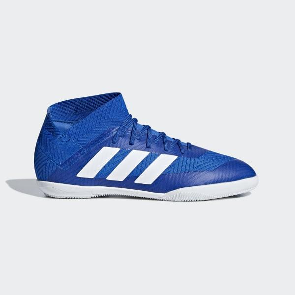 a48ec11cd24b1 Chuteira Nemeziz Tango 18.3 Futsal FOOTBALL BLUE/FTWR WHITE/CORE BLACK  DB2374