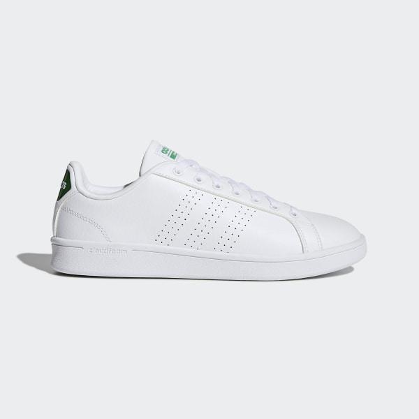 761da81951096 Chaussure Cloudfoam Advantage Clean Footwear White / Green / Green AW3914