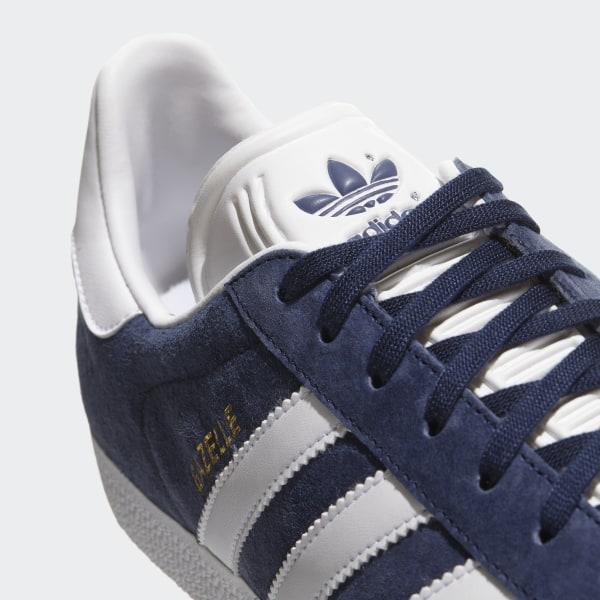 8dc4062747db30 Gazelle Shoes Collegiate Navy / White / Gold Metallic BB5478