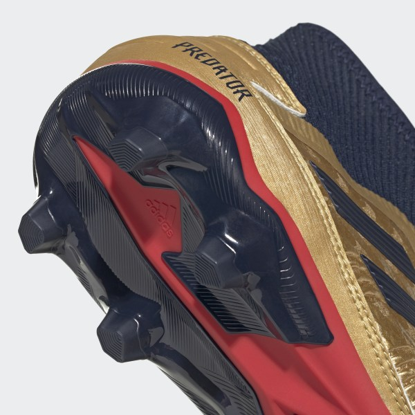 2954523b168 Predator 19.3 Firm Ground Zinédine Zidane Boots Gold Met. / Collegiate Navy  / Predator Red