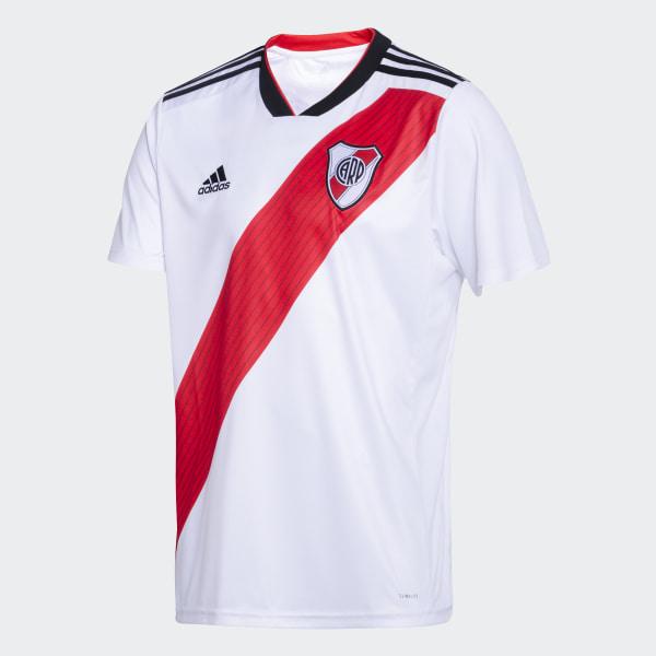 5002d8b3d Camiseta Titular de Local Club Atlético River Plate WHITE RED BLACK CF8965