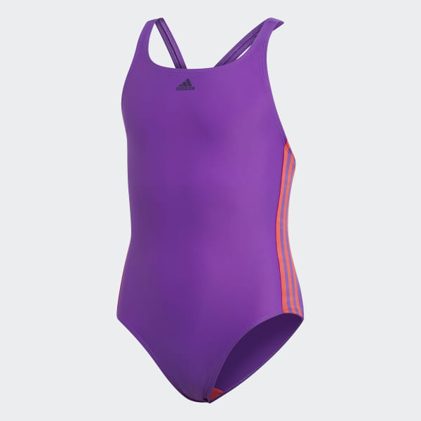 d6bf9b9b028e9 Athly V 3-Stripes Swimsuit Active Purple / Shock Red DQ3321