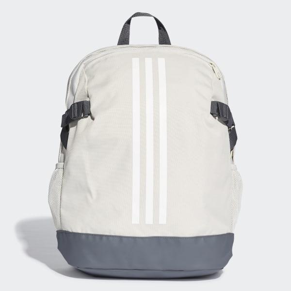84d9b8127 Mochila 3-Stripes Power Medium Raw White / White / White DU2009