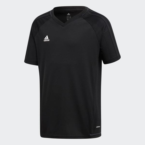 397c6bae Tiro 17 Training Jersey Black / Dark Grey / White AY2860