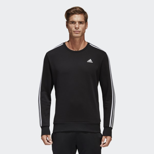 adidas Essentials 3 Stripes Sweatshirt Black | adidas US