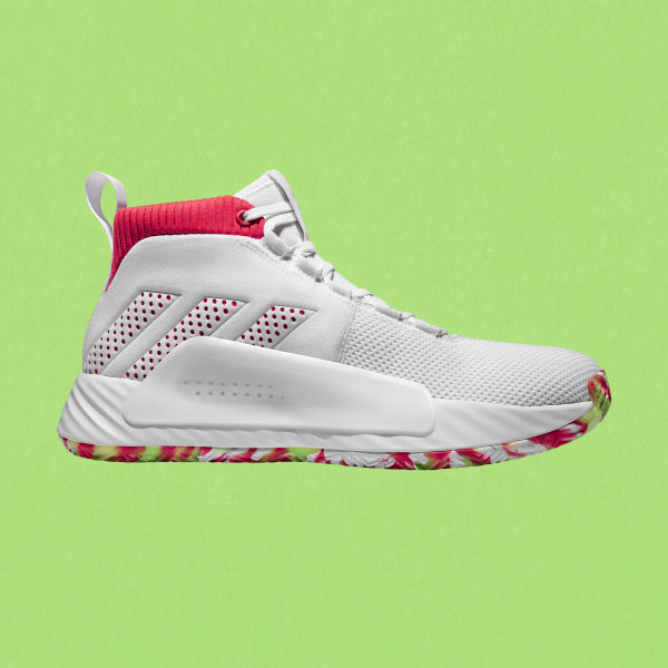 reputable site bb8c7 78b0e Dame 5 Shoes Cloud White   Shock Red   Crystal White BB9312