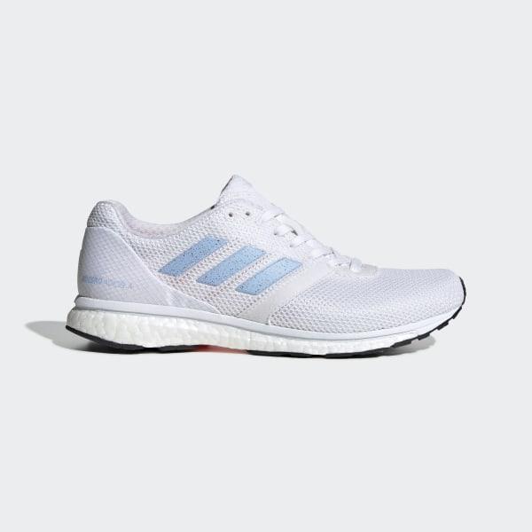 3089cecb1d24 Adizero Adios 4 Shoes Ftwr White / Glow Blue / Solar Orange EF1456