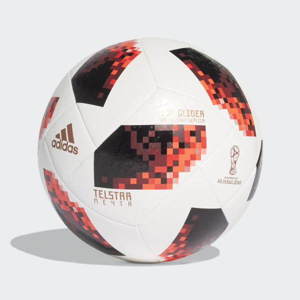 42594a9d0 FIFA World Cup Knockout Top Glider Ball White / Solar Red / Black CW4684