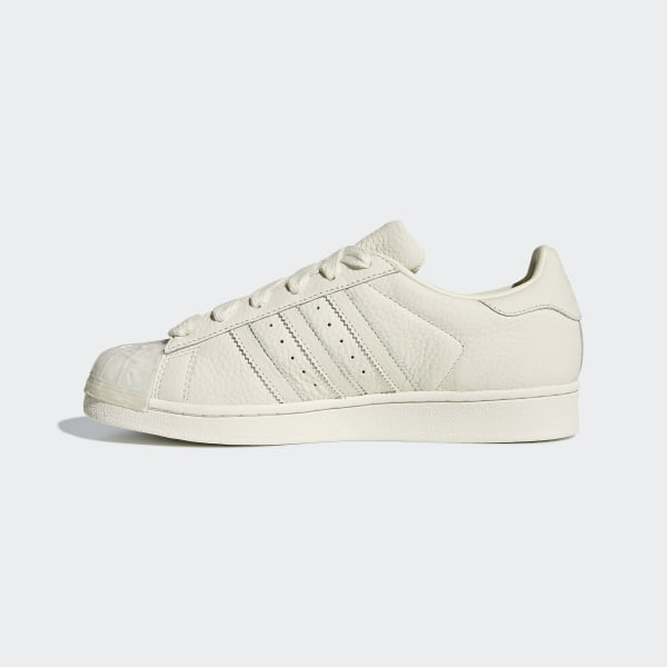 Details about Adidas Originals Women's Leather Velvet Off white Superstar Shoes CG6010