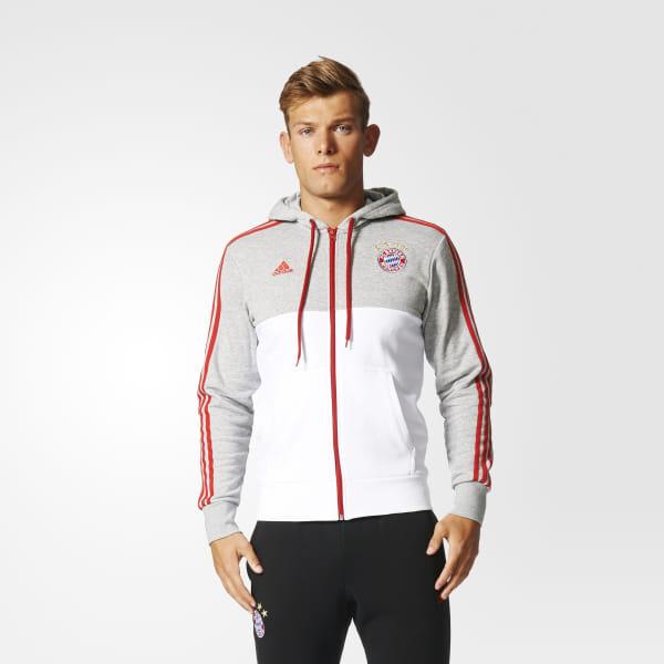 6cab8e504 Buzo DE FÚTBOL con Capucha FC Bayern Múnich MEDIUM GREY HEATHER/WHITE/FCB  TRUE