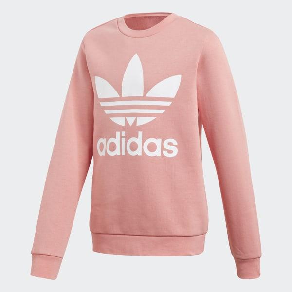 eeedb8d1ad adidas Fleece Crew Sweatshirt - Pink | adidas US