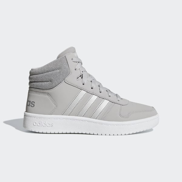 e2ad7b319f369 Chaussure Hoops 2.0 Mid Grey Two / Silver Metallic / Cloud White F35796