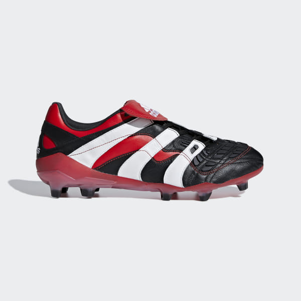 cfe558ee35cc Predator Accelerator Firm Ground Cleats Core Black / Cloud White / Red  D96665