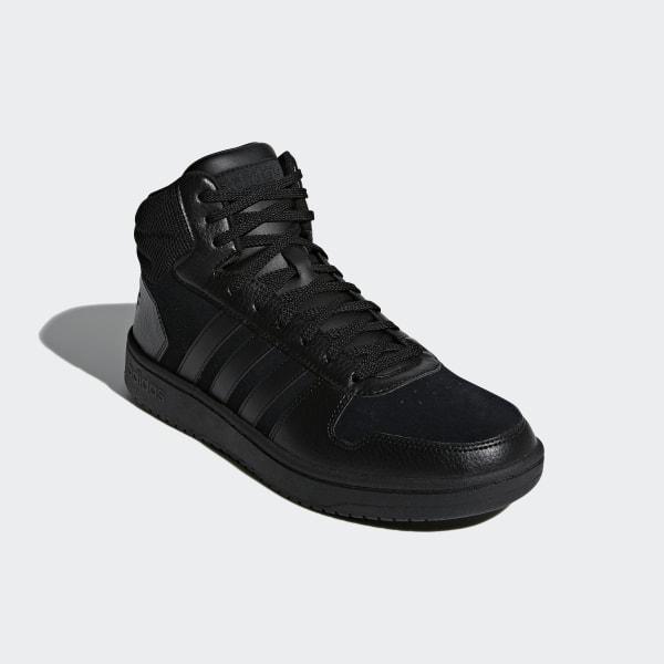 Black Adidas Hoops 2.0 Mid M B44649 shoes