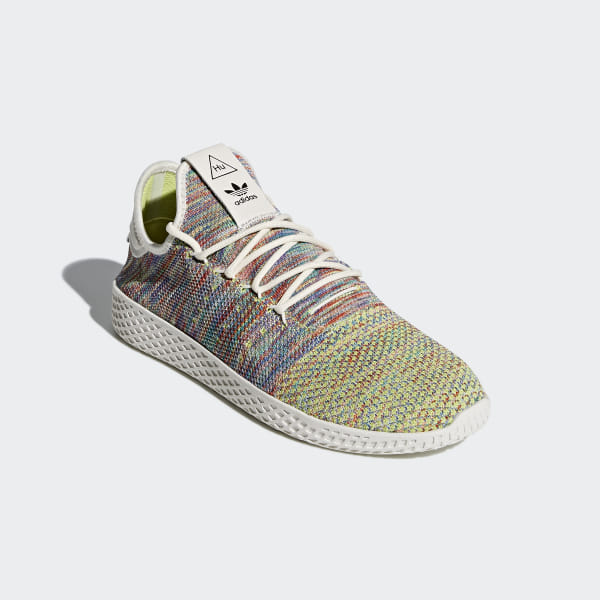 the best attitude 8e6fd b861b Pharrell Williams Tennis Hu Primeknit Shoes Multi Chalk White Core Black  CQ2631
